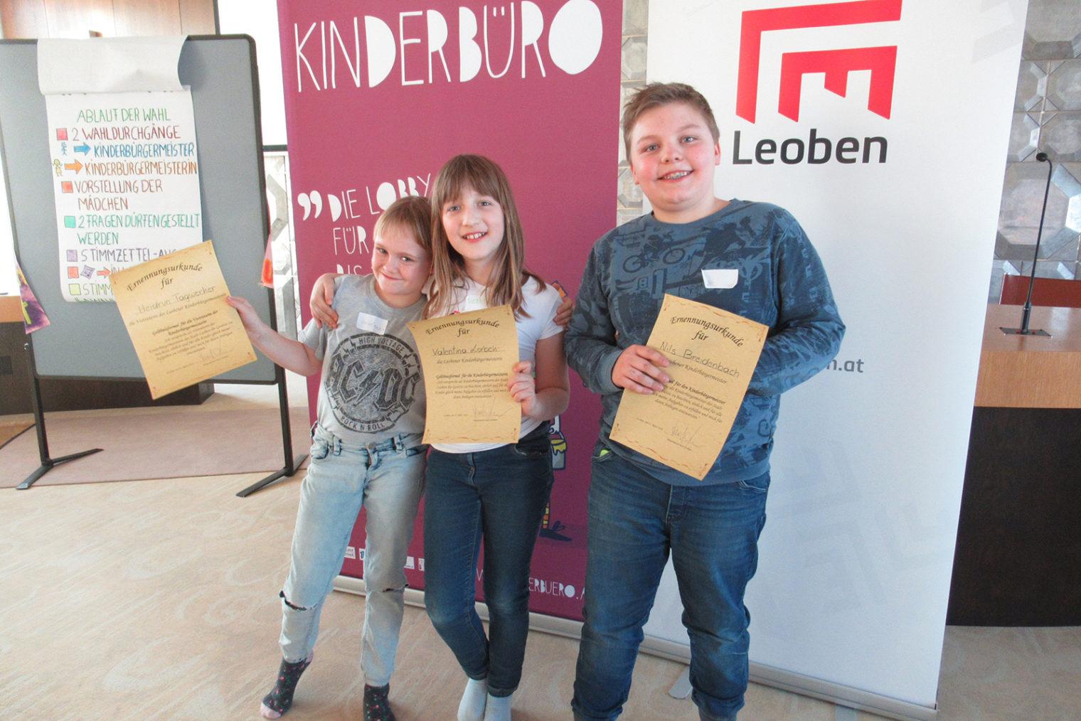 Gruppenbild Kinderbürgermeister Leoben 2019