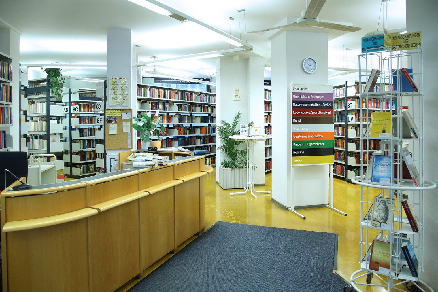 Eingang der Bücherei Leoben