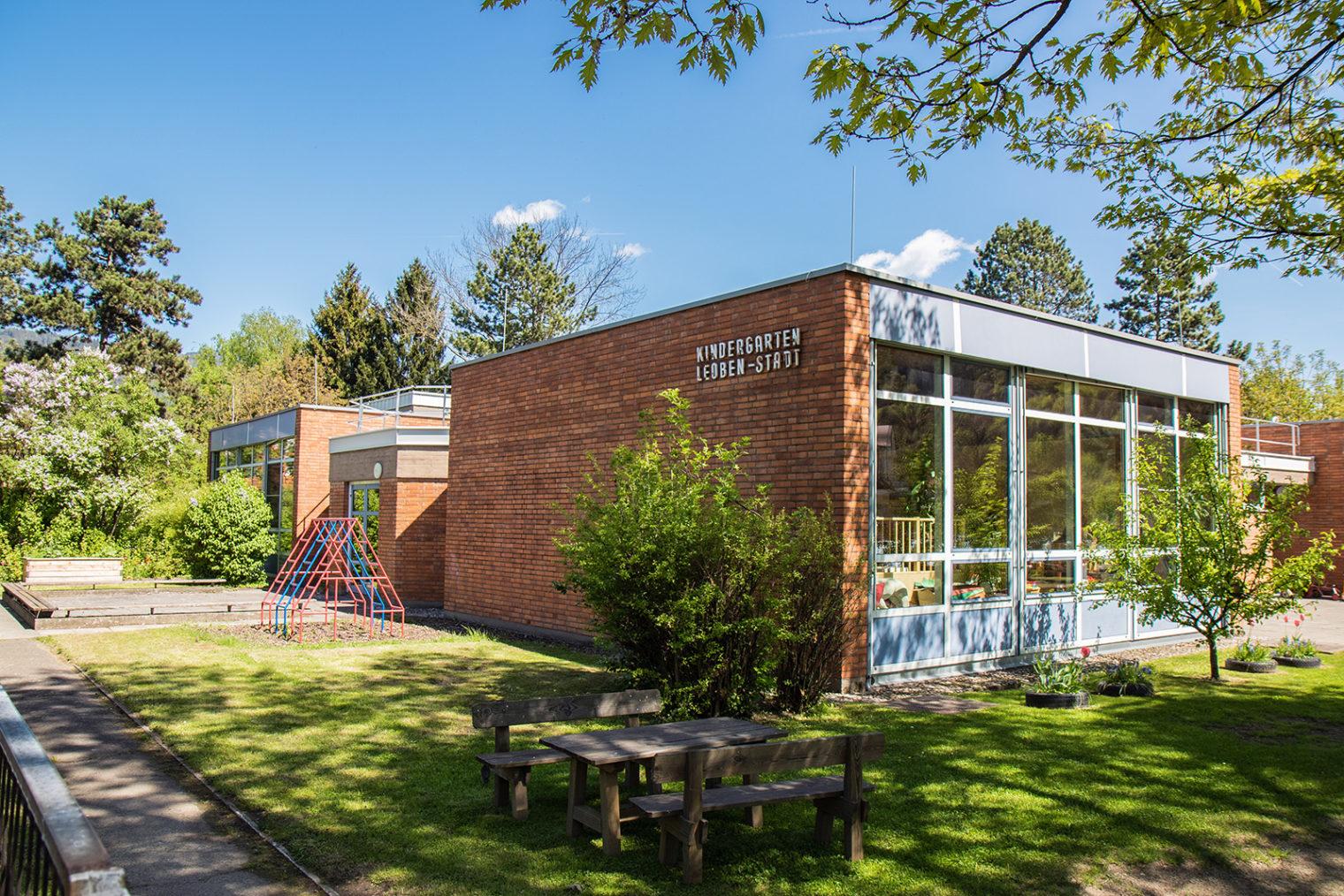 Außenaufnahme Kindergarten Leoben Stadt