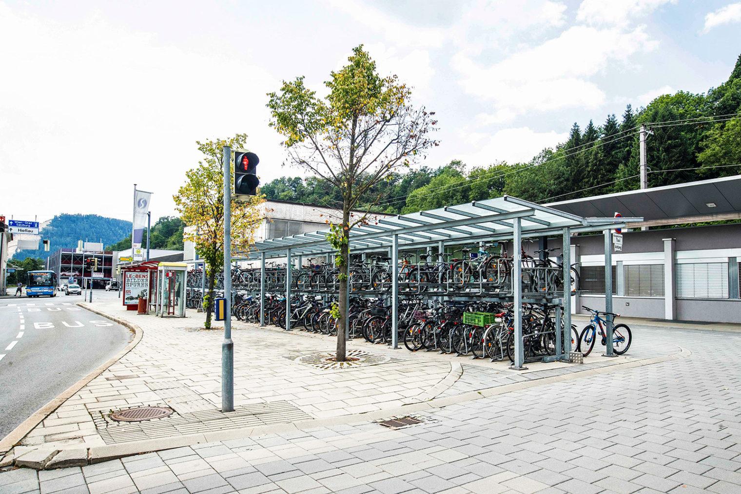 Bahnhof Leoben Fahrradabstellplätze