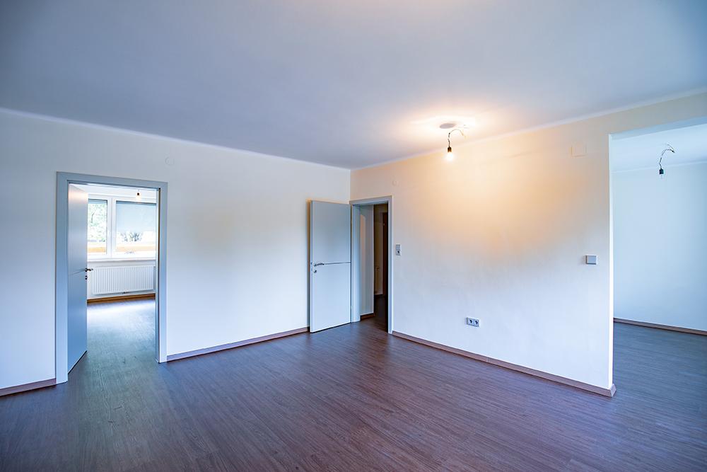 Beispiel eines leeren Wohnraum einer Gemeindewohnung in Leoben