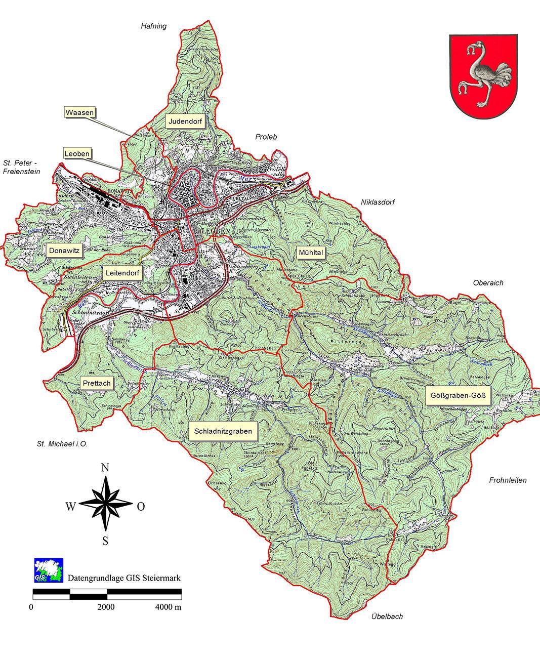 Übersicht Katastralgemeinde Stadt Leoben