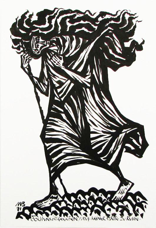 Grafische Arbeit von Friedrich Mayer Beck;