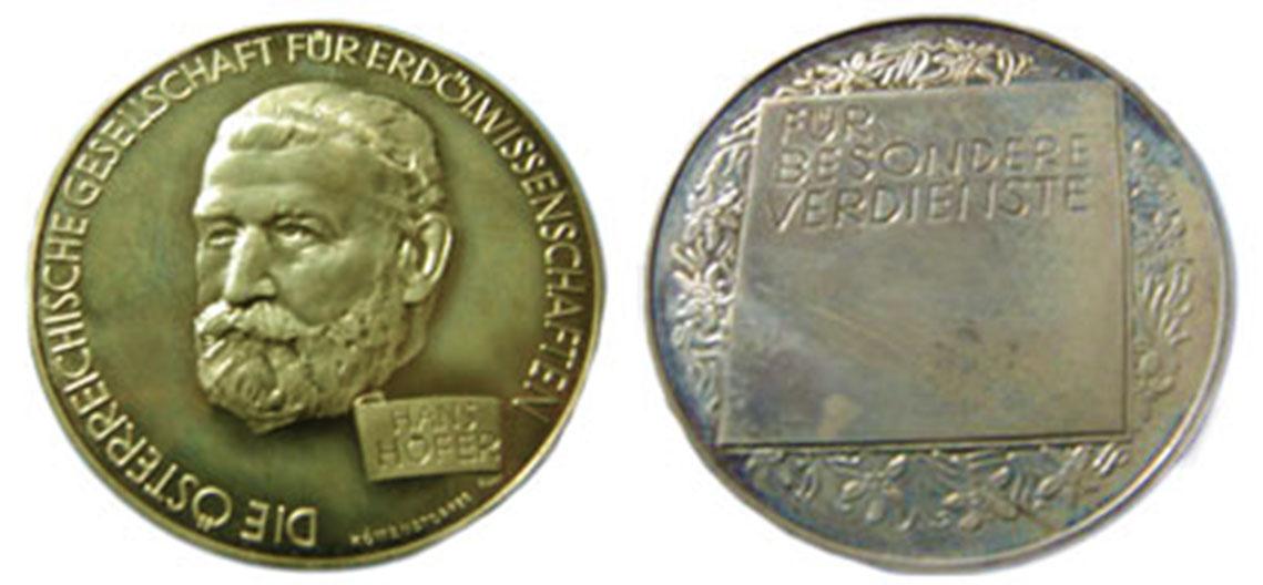 beidseitige Ansicht der Hans Höfer Medaille