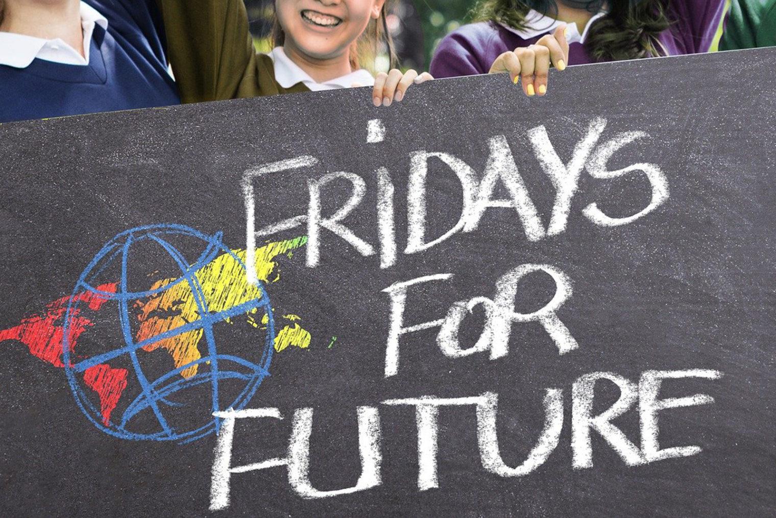 Plakat von einer Klimaschutz-Demonstration