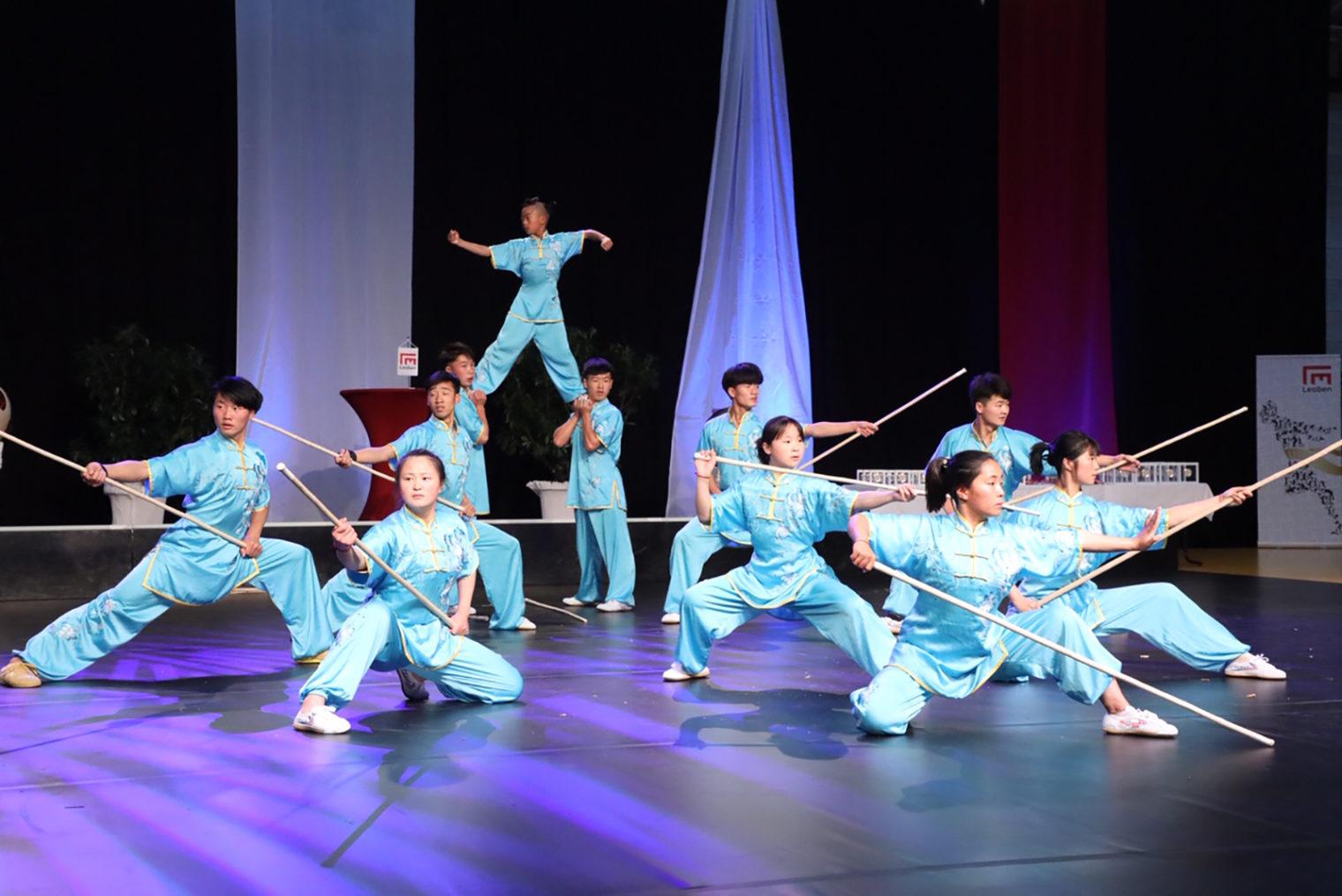 Auftritt des Kung Fu Ensembles in Leoben