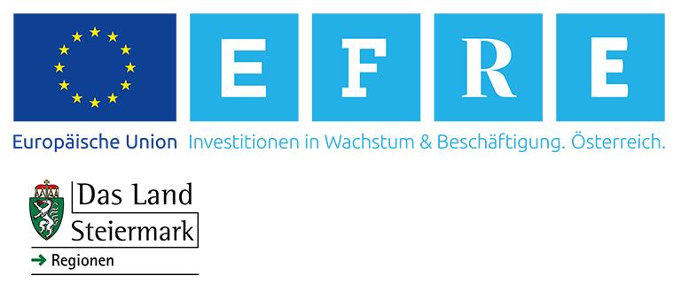 Logos EU EFRE und Land Steiermark