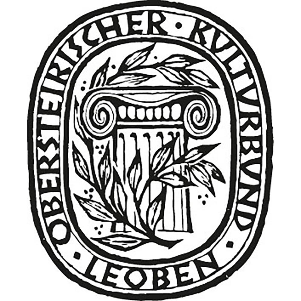 Logo des Obersteirischer Kulturbunds in Schwarz Weiß