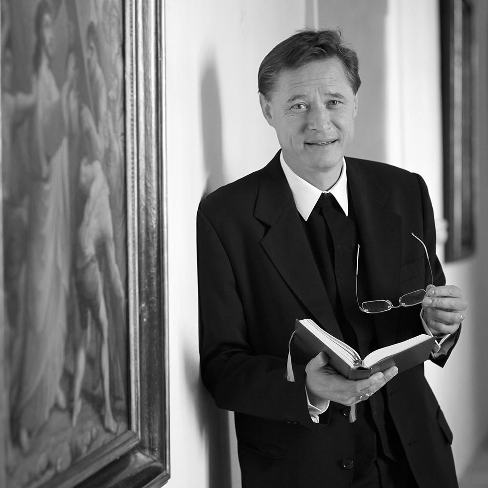 Schwarz-Weiß Porträt Markus Plöbst