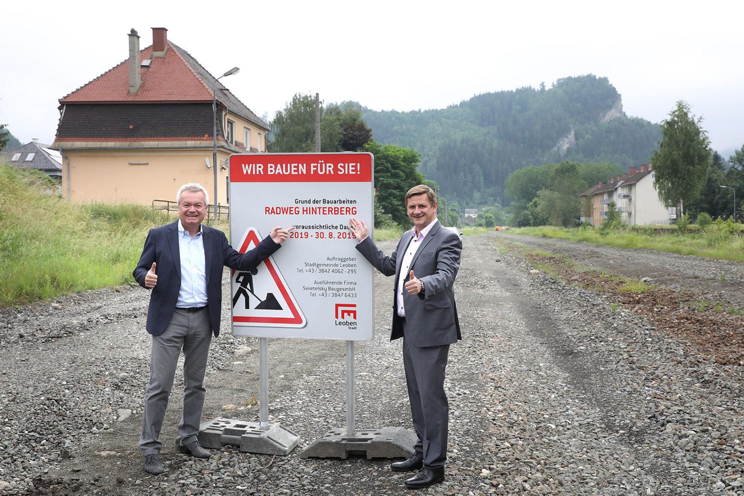 Spatenstich Radweg Hinterberg