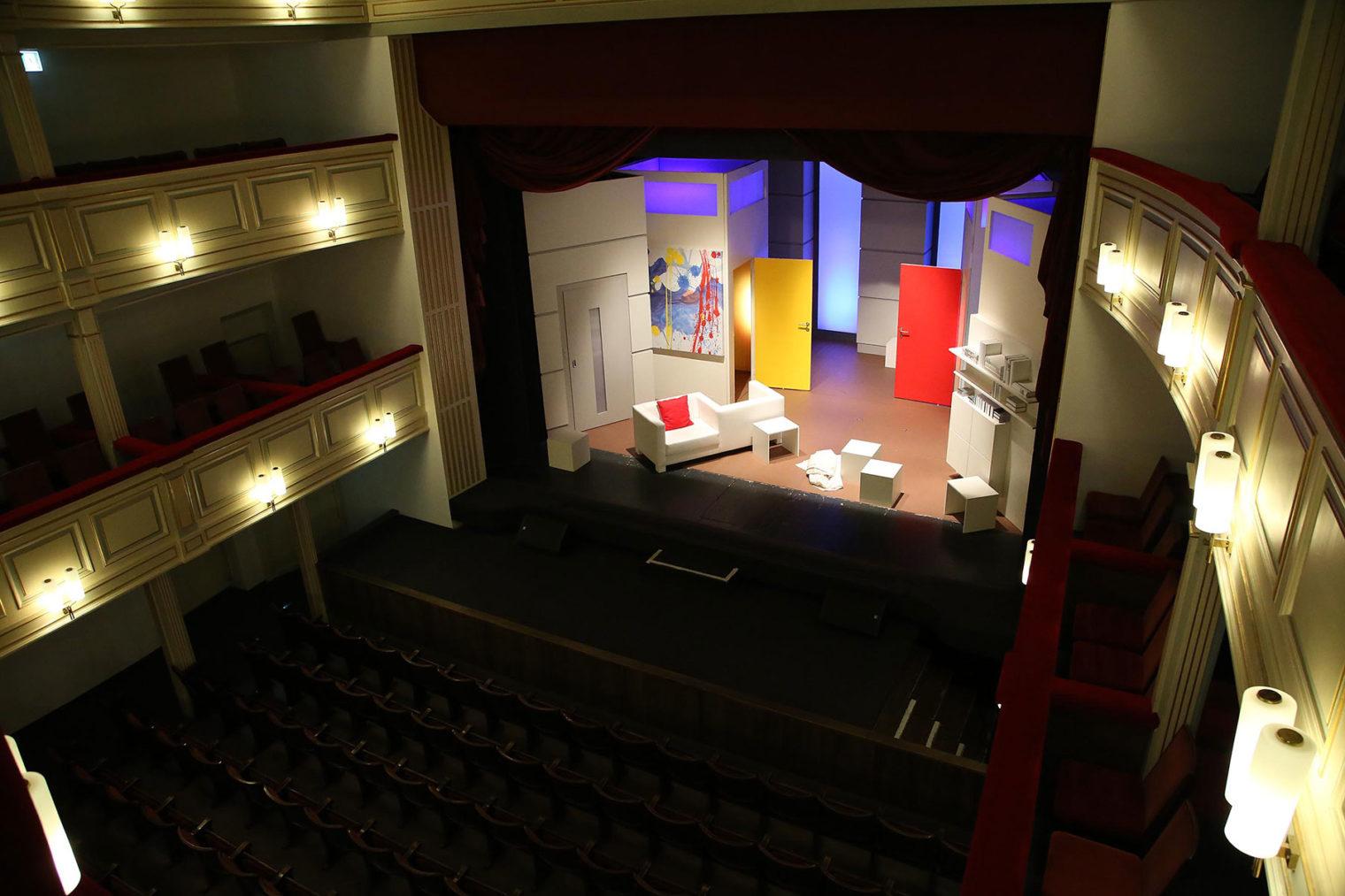 Blick auf Bühne von oben