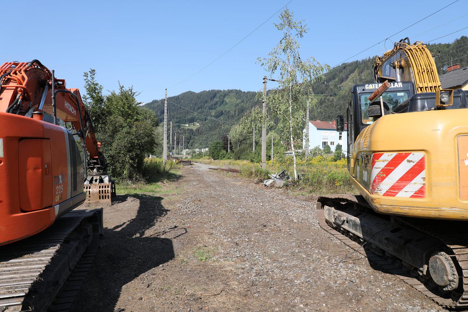Ehemaligen Bahntrasse in Leoben-Hinterberg