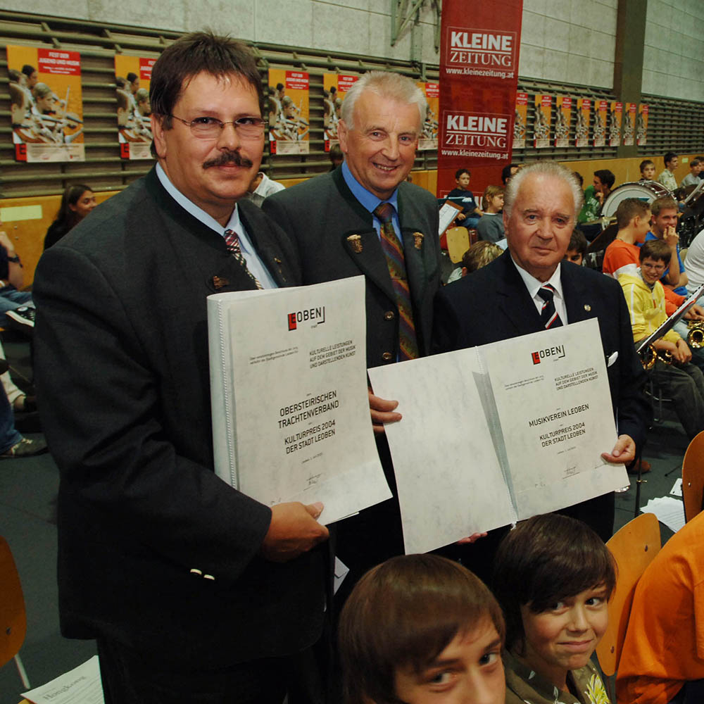 Andi Stradner, the mayor Mr. Konrad and Siegfried Ussar