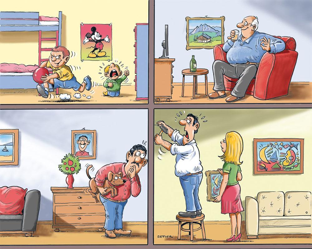 Illustration zum Thema Geräuschbelästigung