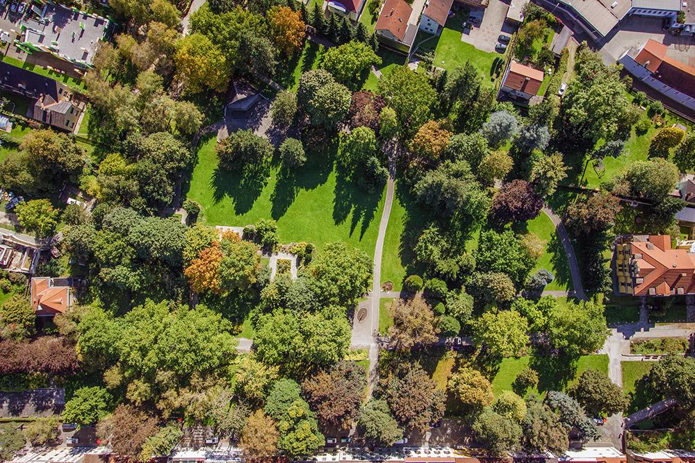 Glacis-Park Luftaufnahme