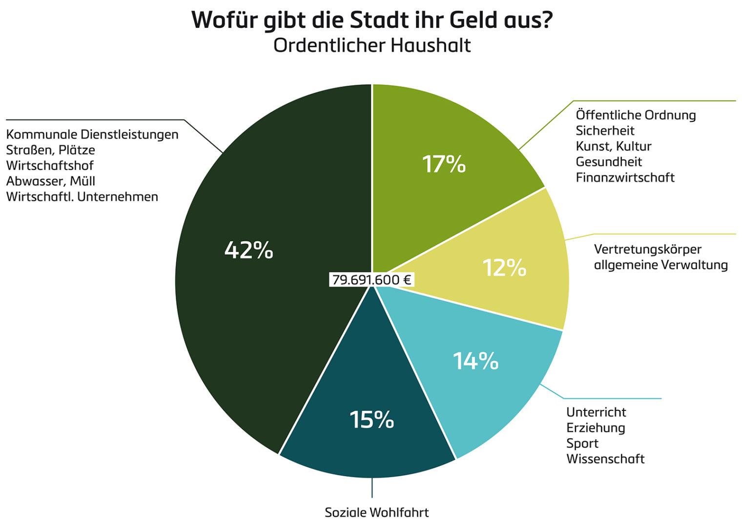 Grafik: Ordentlicher Haushalt - Wofür gibt die Stadt ihr Geld aus?