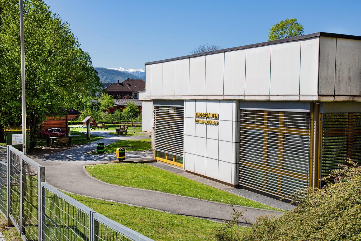 Außenaufnahme Kindergarten Leoben-Judendorf