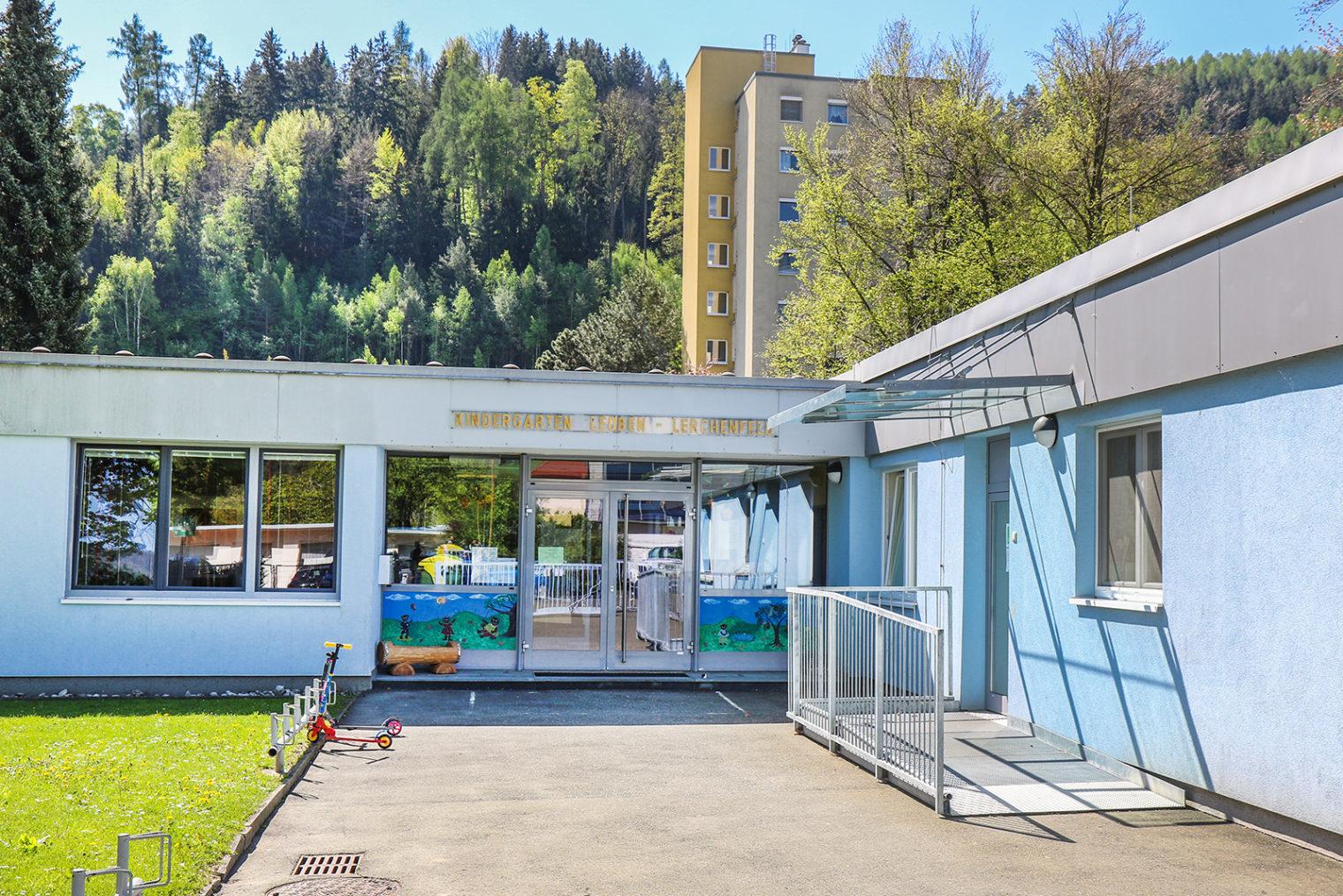 Außenaufnahme Kindergarten Leoben-Lerchenfeld