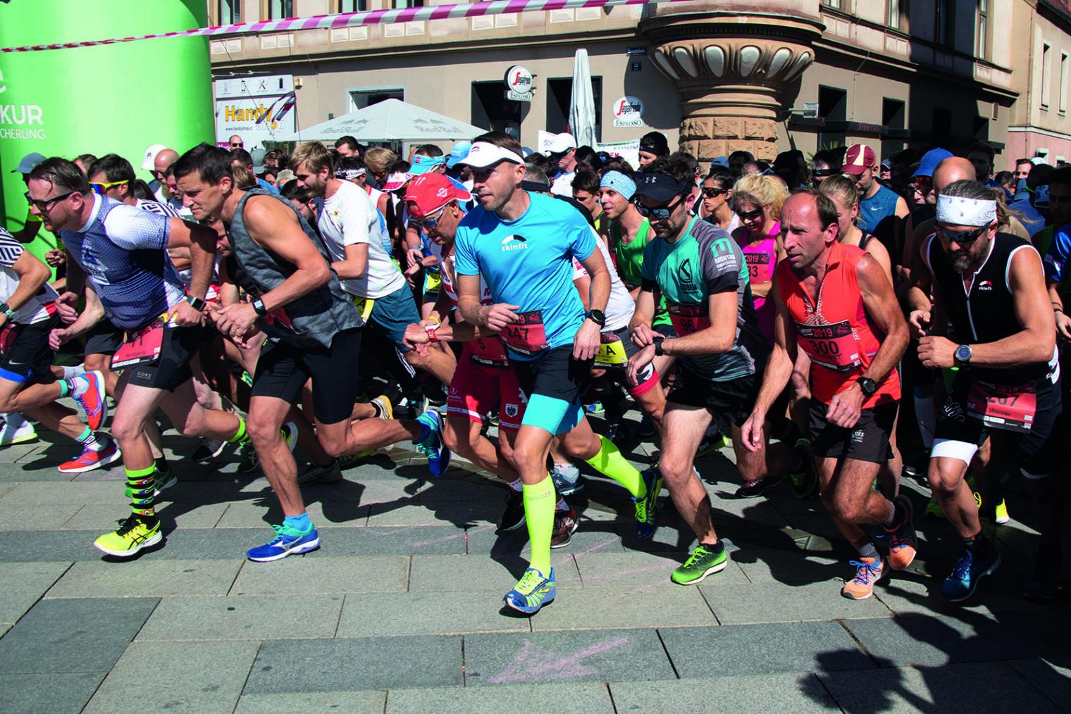 Motivierte Läufer und Läuferinnen beim LE Laufevent 2019 in Leoben