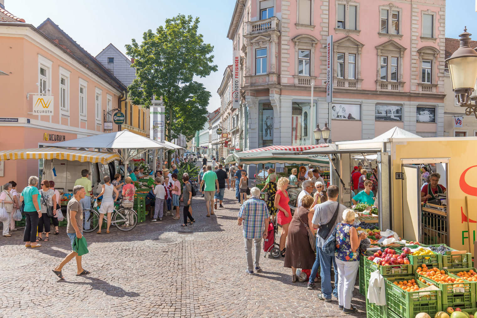 Großes Tummeln am Leobener Bauernmarkt