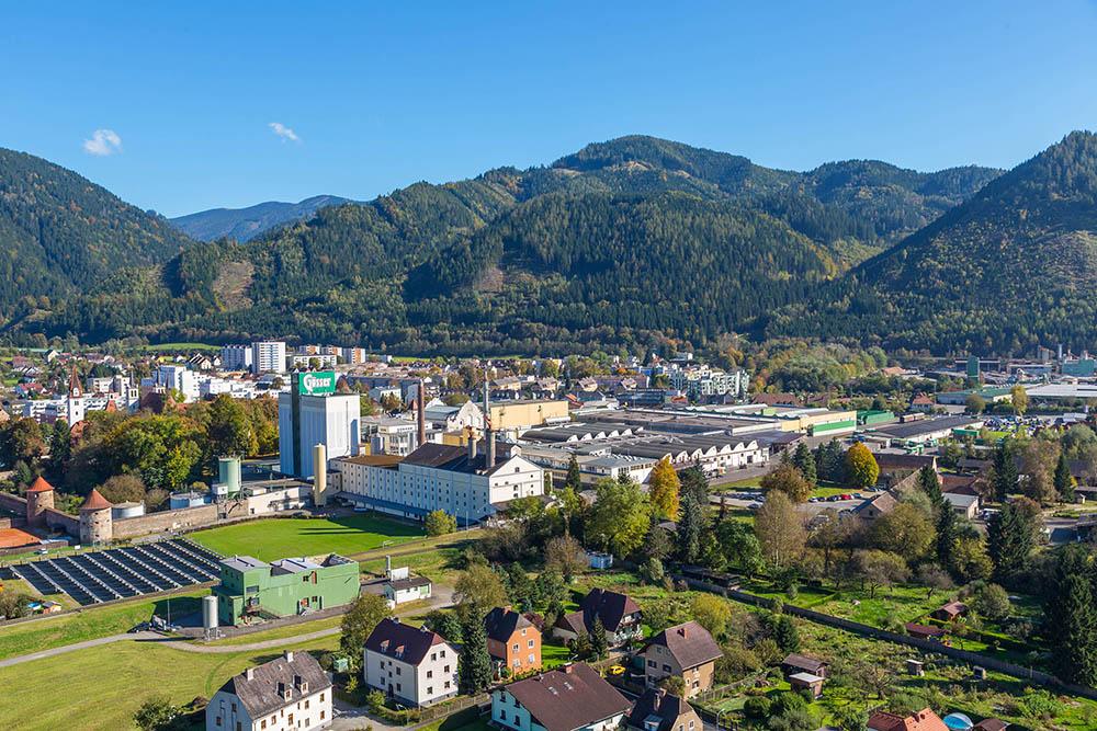 Luftaufnahme Gösser Brauerei