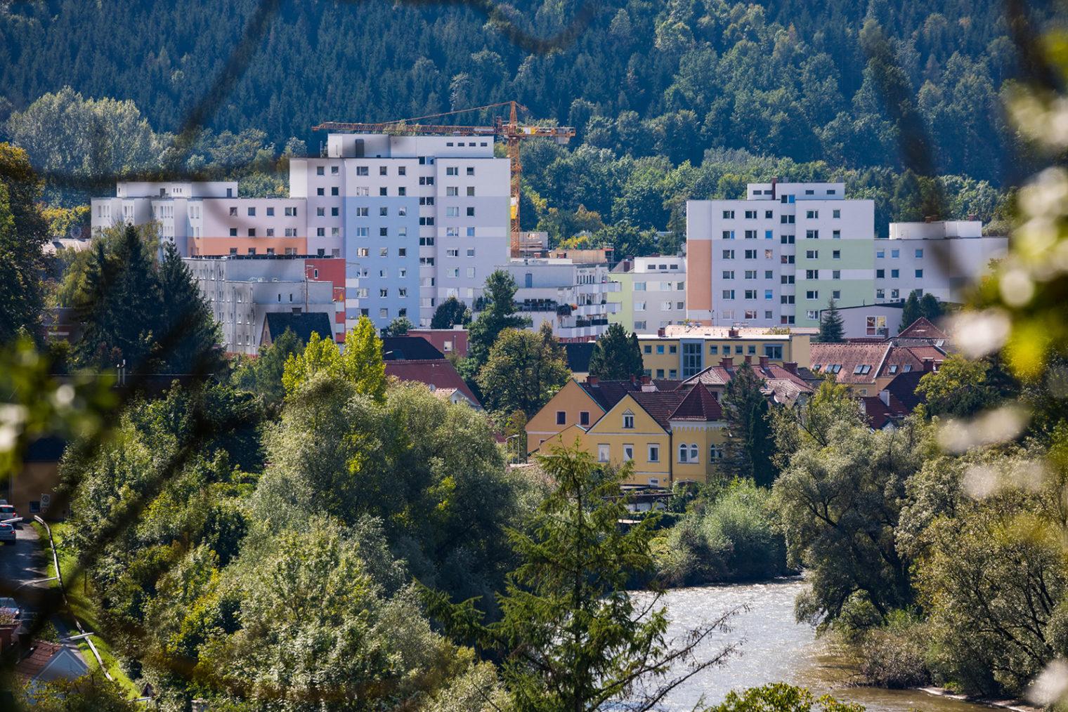 Fernaufnahme Wohnsiedlung Krainerhof