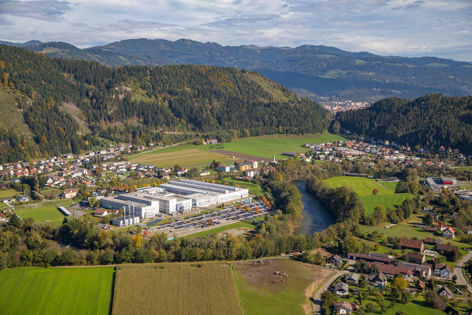 Luftaufnahme AT&S Standort in Hinterberg