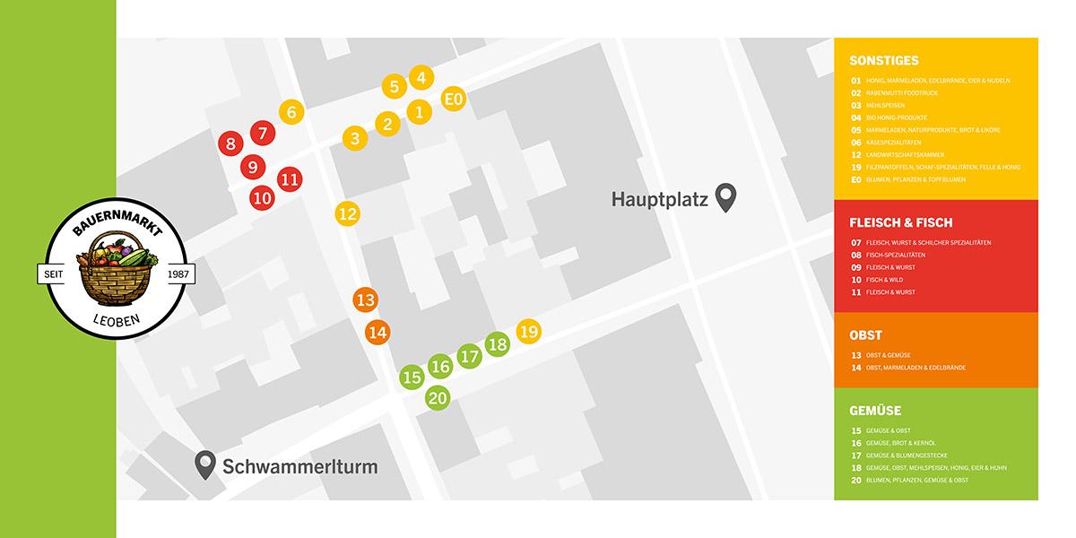 Standplan des Leobener Bauermarkts