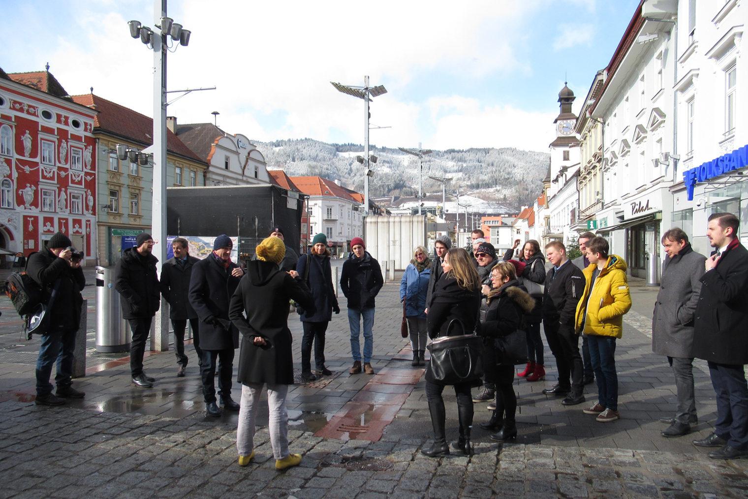 Gruppenfoto zum Thema Zukunft Innenstadt Leoben