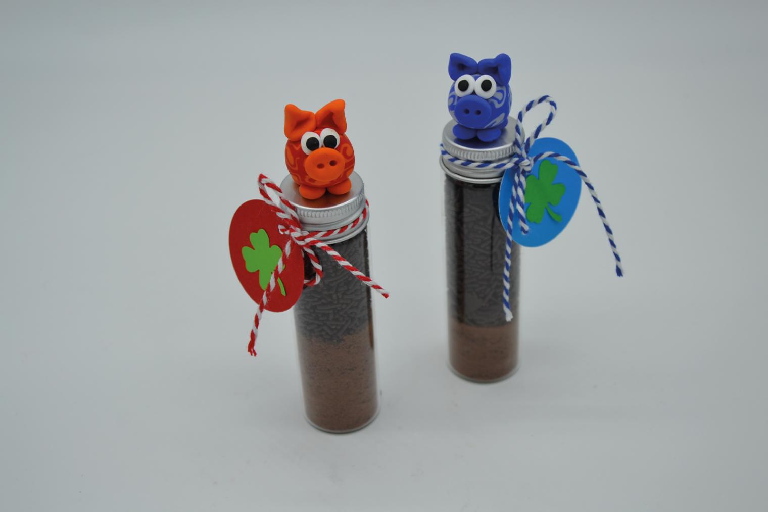 Fimo-Schweinchen auf Glas Kreativworkshop