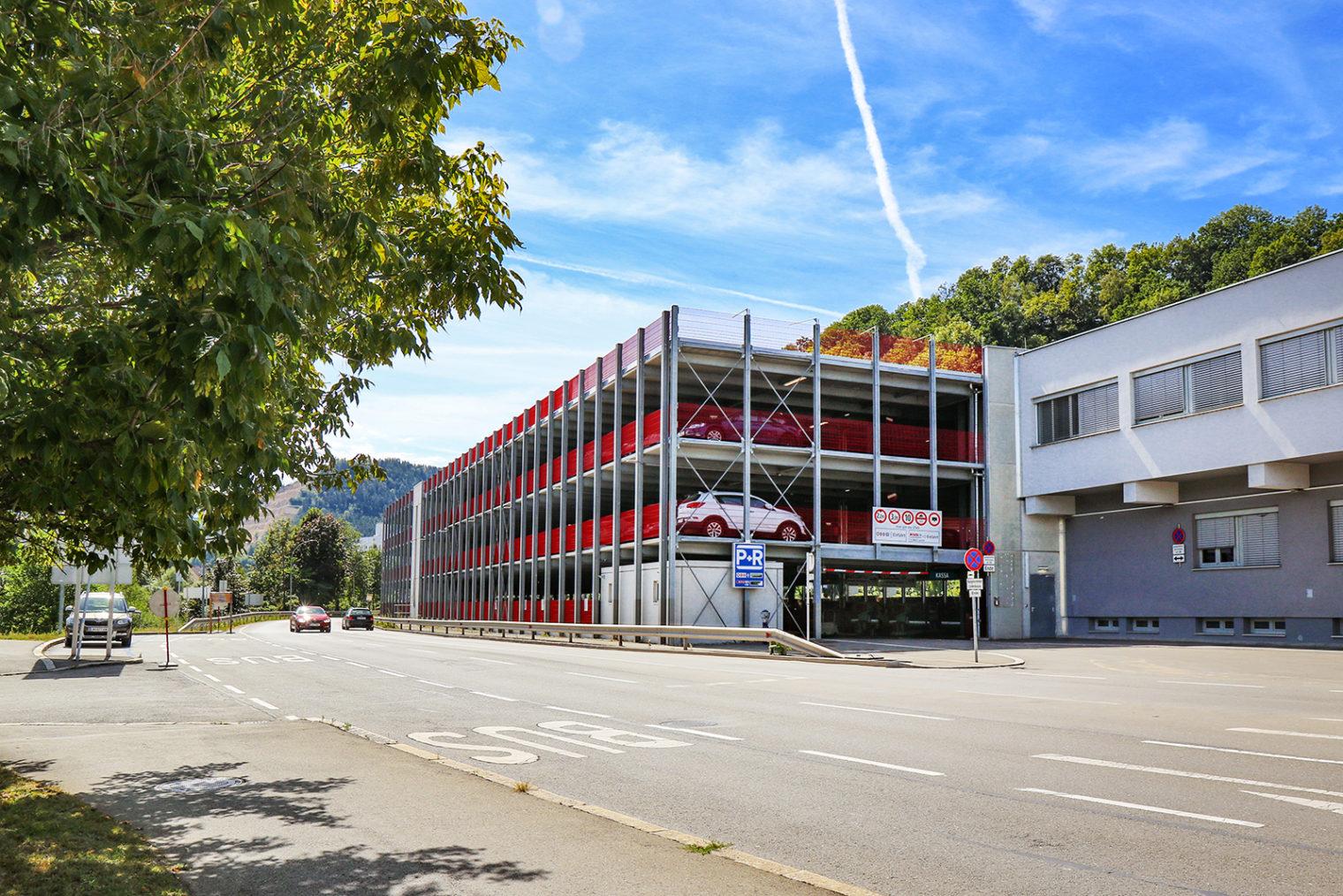 Park and Ride Parkplätze am Leobener Bahnhof
