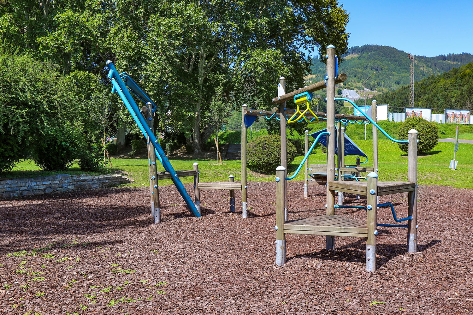 Play equipment at the Pestalozzipark playground
