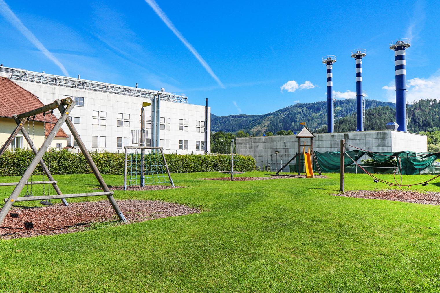 Play equipment at the SV Hinterberg playground