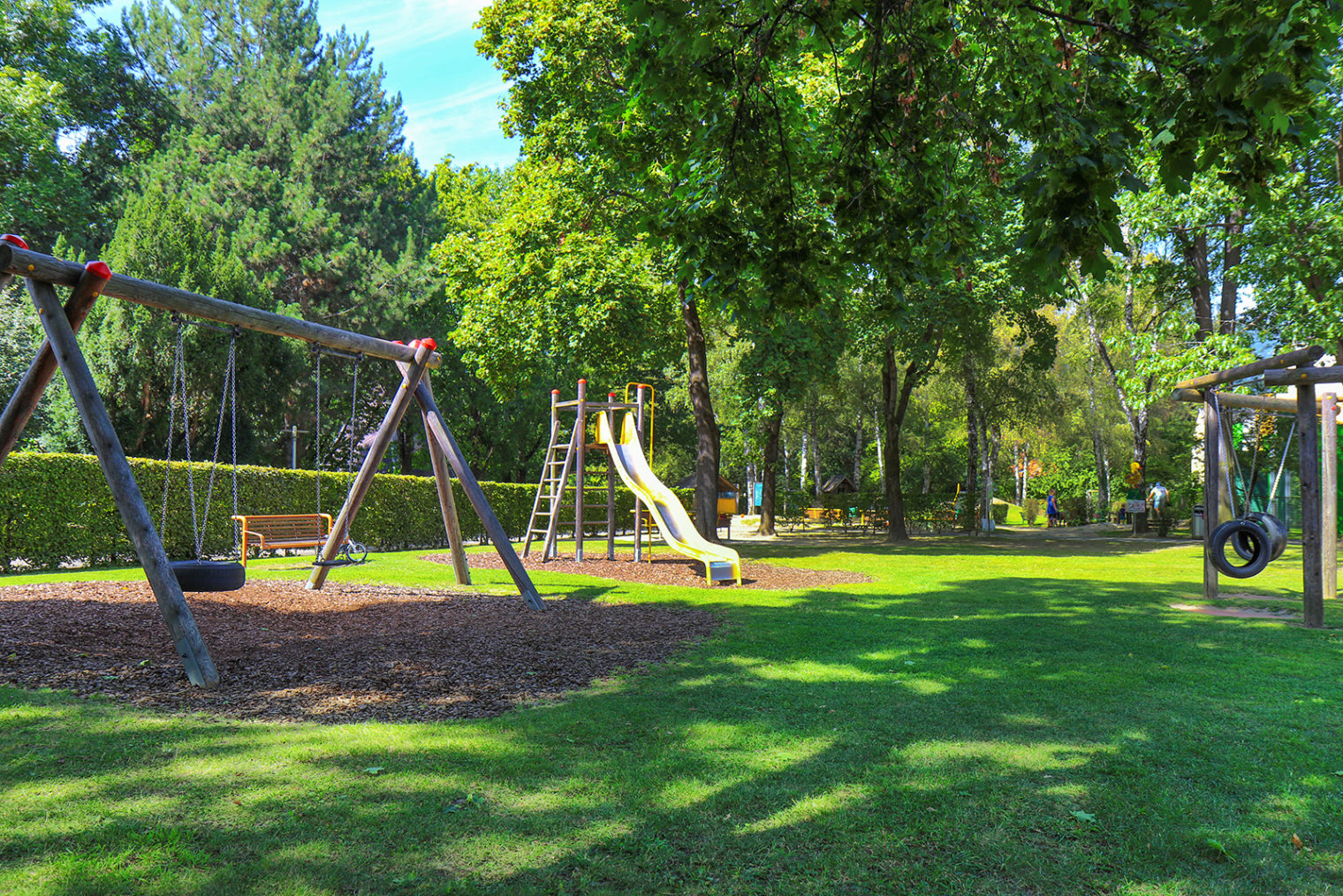 Play equipment at the Glacis playground