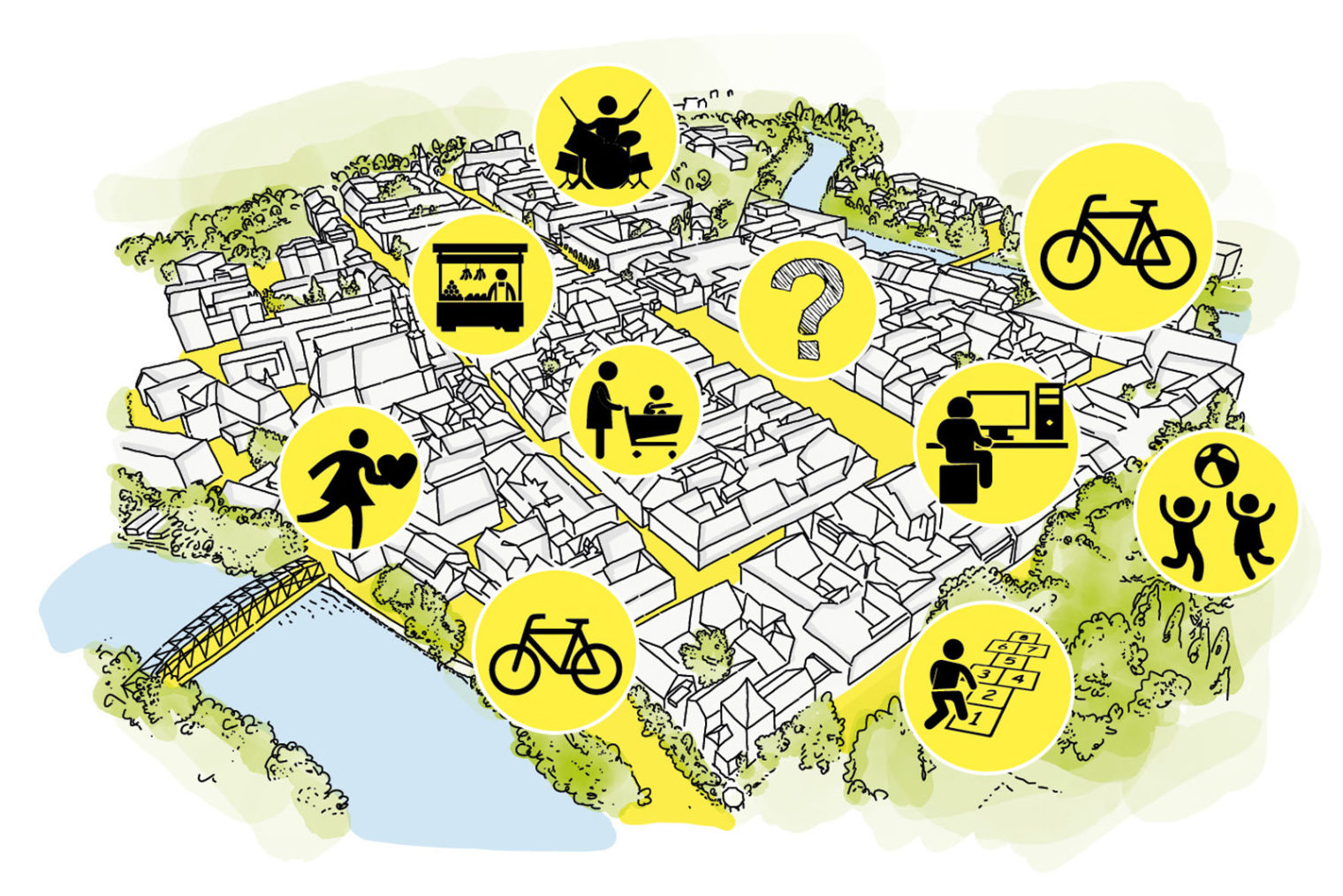 Karte der Leobener Innenstadt