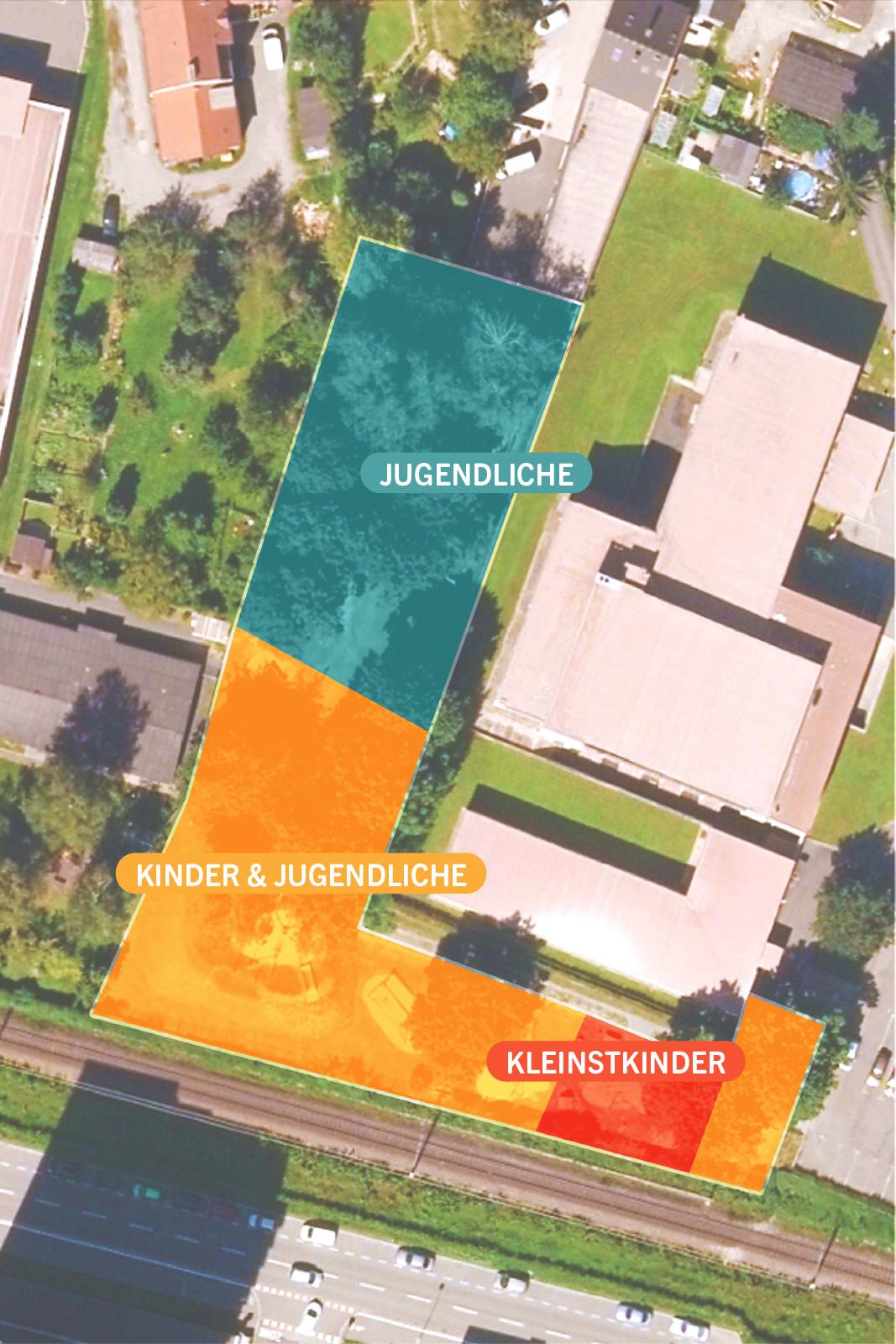 Plan vom Spielplatz Kammersäle in Leoben-Donawitz