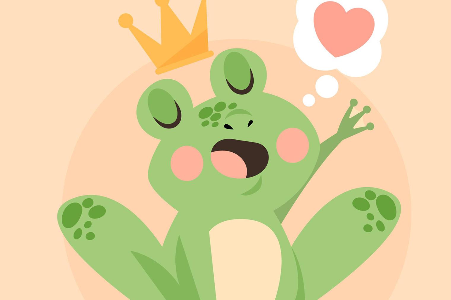 Froschkönig Krone Herz